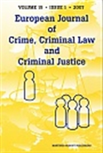Picture of European Journal of Crime, Criminal Law and Criminal Justice