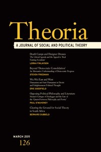 Picture of Theoria: A Journal of Social and Political Theory - Online