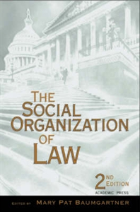 Picture of The Social Organization of Law, 2nd Edition