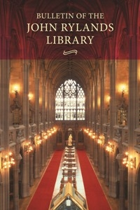 Picture of Bulletin of the John Rylands Library - Print & Online