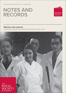 Picture of Notes and Records:The Royal Society Journal of the History of Science Print and Online