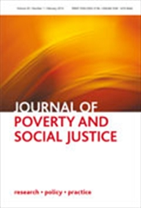 Picture of The Journal of Poverty and Social Justice - Print
