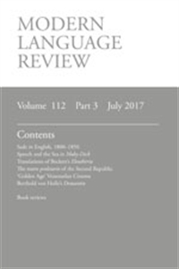Picture of The Modern Language Review - Print and Online