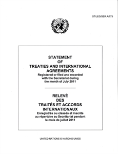 Picture of Statement of Treaties and International Agreements - Online