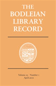 Picture of Bodleian Library Record