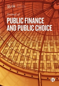 Picture of Journal of Public Finance and Public Choice - Print