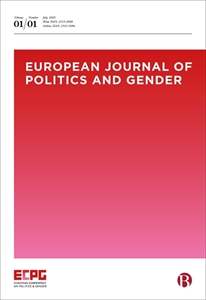 Picture of European Journal of Politics and Gender - Print and Online