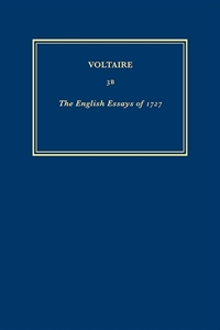 Picture of Oeuvres Complètes de Voltaire 3B - The English Essays of 1727